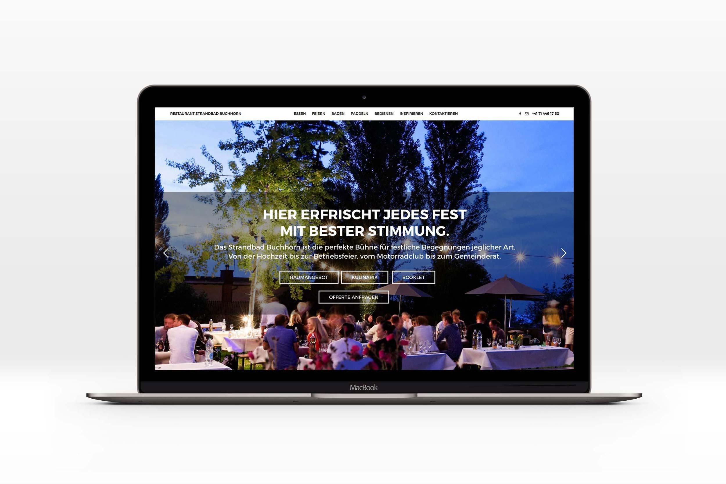Bureau18 für Restaurant Strandbad Buchhorn